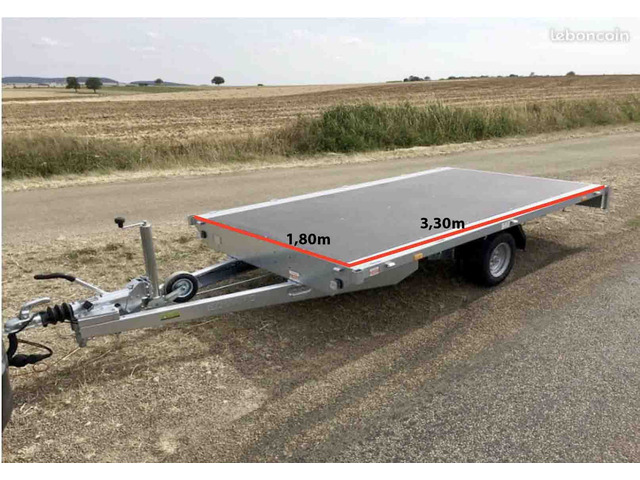 Remorque plateau multi-usage 1500kg