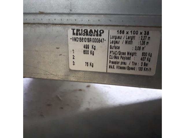 Remorque 1 essieu ptac 500kg