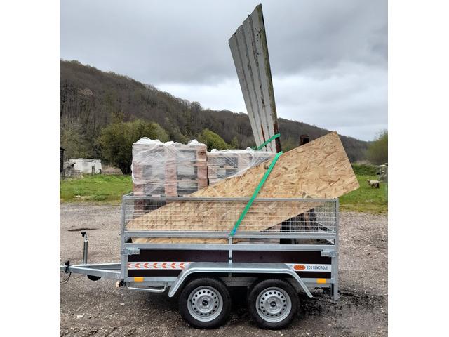Remorque double essieux de 750 kg
