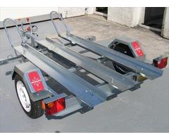 Remorque moto 2 rails