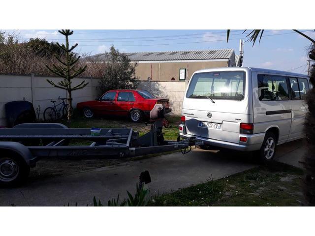 Porte voiture double essieu